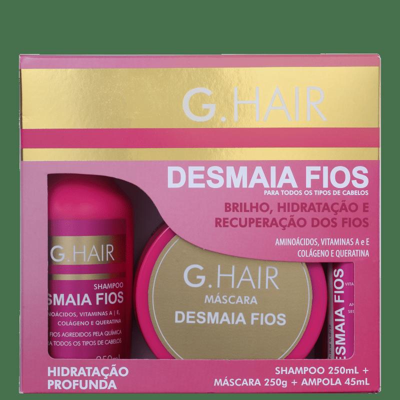 Kit Desmaia Fio (Shampoo + Máscara + Ampola) - G-Hair