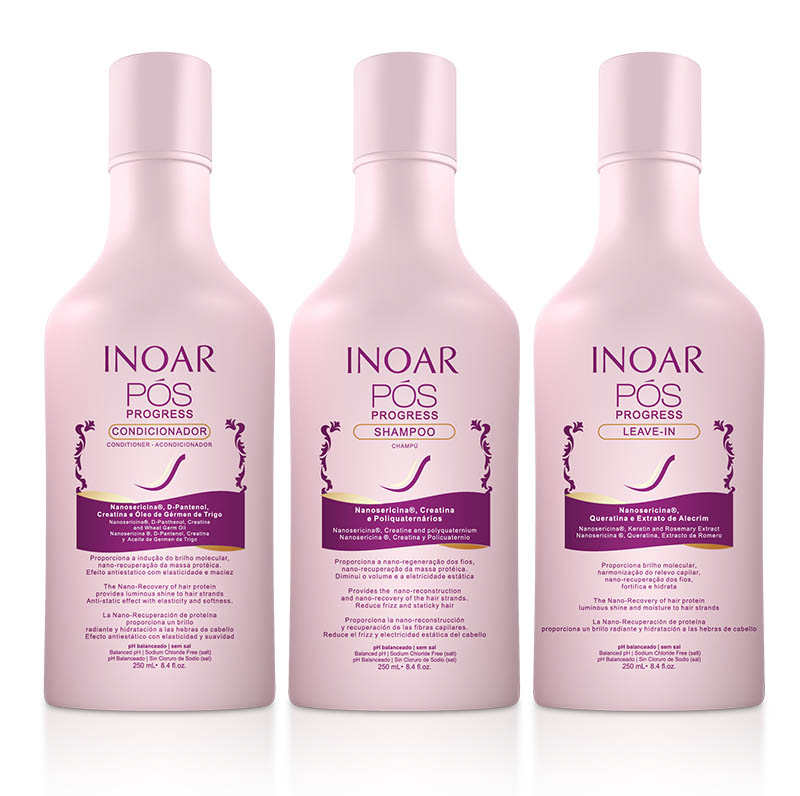Kit Trio Pós Progress INOAR - 250ml