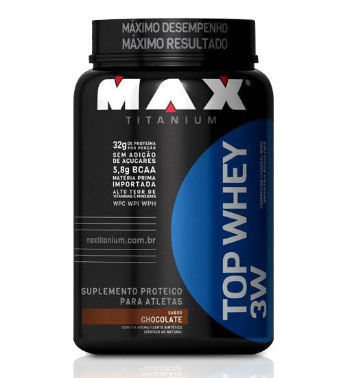 Top Whey 3W Max Titanium - Chocolate- 900g