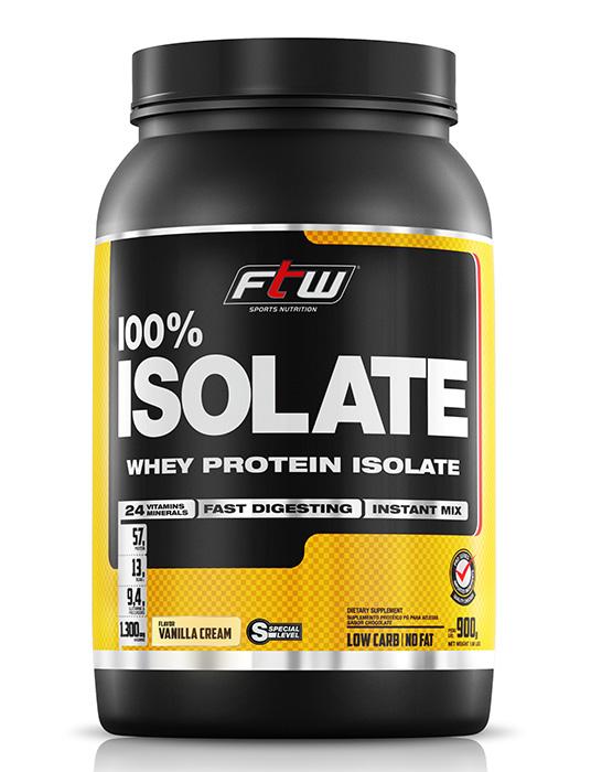 Whey Protein 100% Isolate - FTW - 900g - Sabor Baunilha - Fitoway