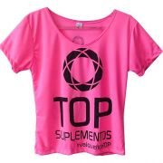 Camiseta Rosa Baby Look - TOP Suplementos