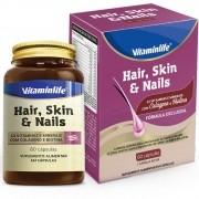 HAIR SKIN E NAIL C/ COLAGENO E BIOTINA 60 CAPS - VITAMIN LIFE