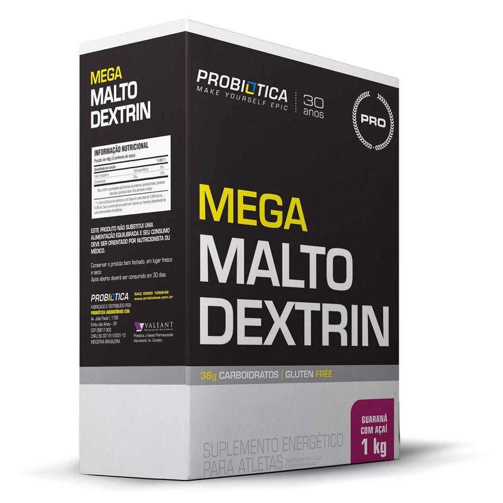 6x Mega Malto Dextrin Guarana com Açaí 1kg - Probiótica