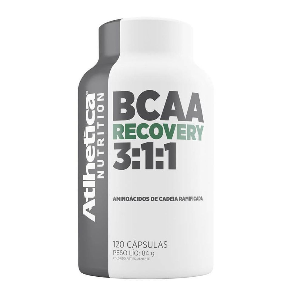 Bcaa Recovery 3:1:1 120 capsulas - Atlhetica Nutrition