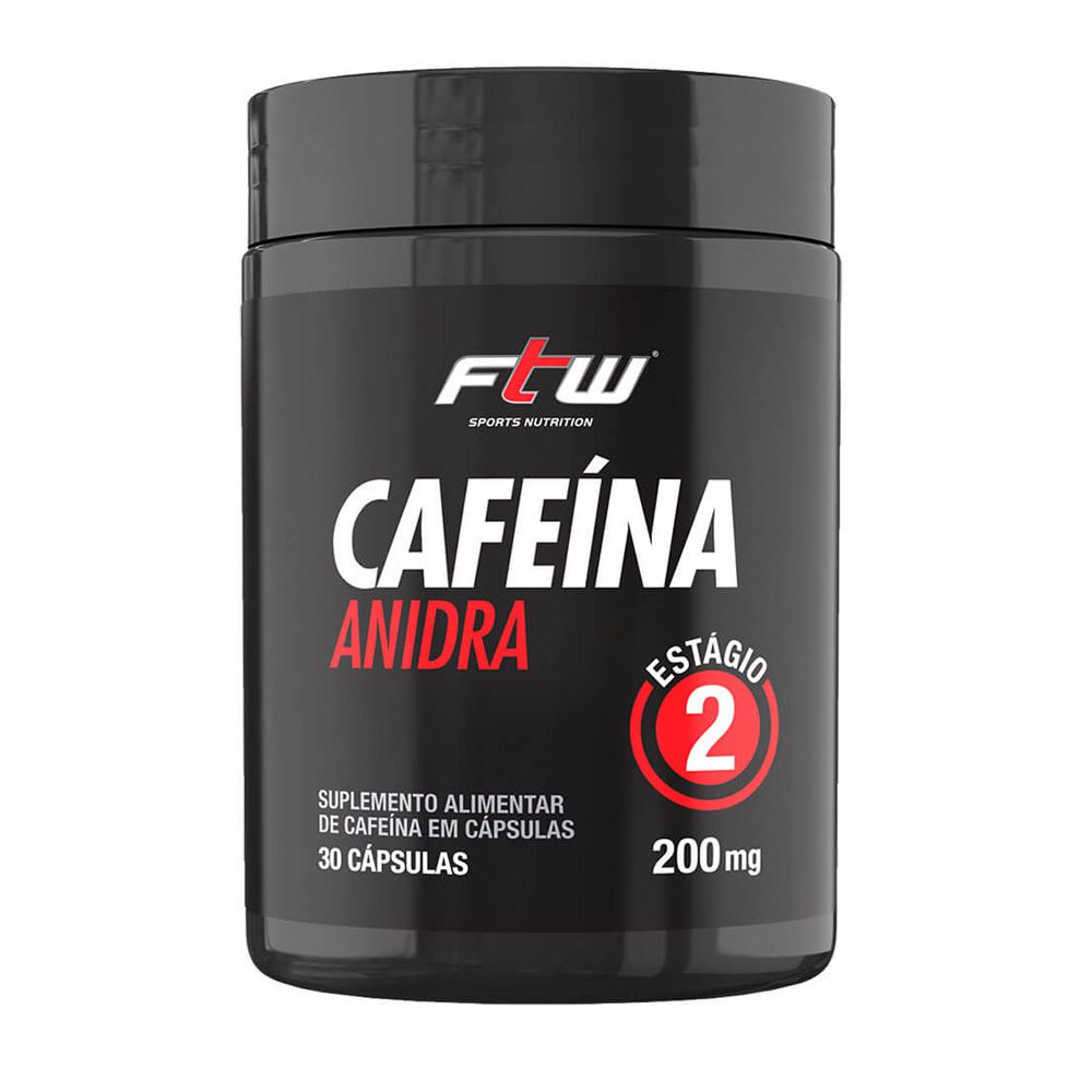 CAFEINA ANIDRA 200MG 30 CAPS - ESTAGIO 2 - FTW