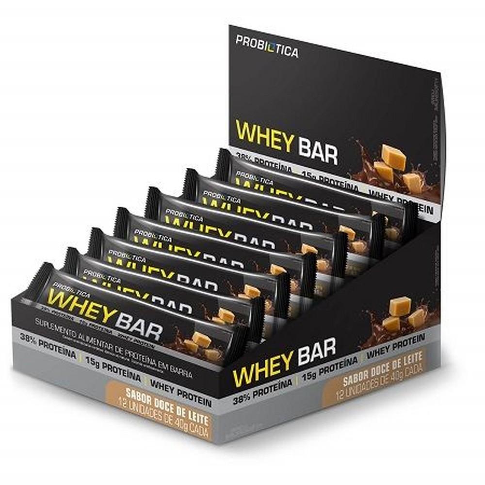 Caixa Whey Bar - Probitica 12 unidades Doce de leite
