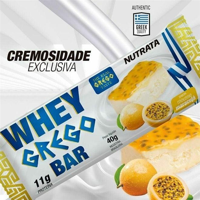 WHEY GREGO BAR 40g - UNIDADE - NUTRATA