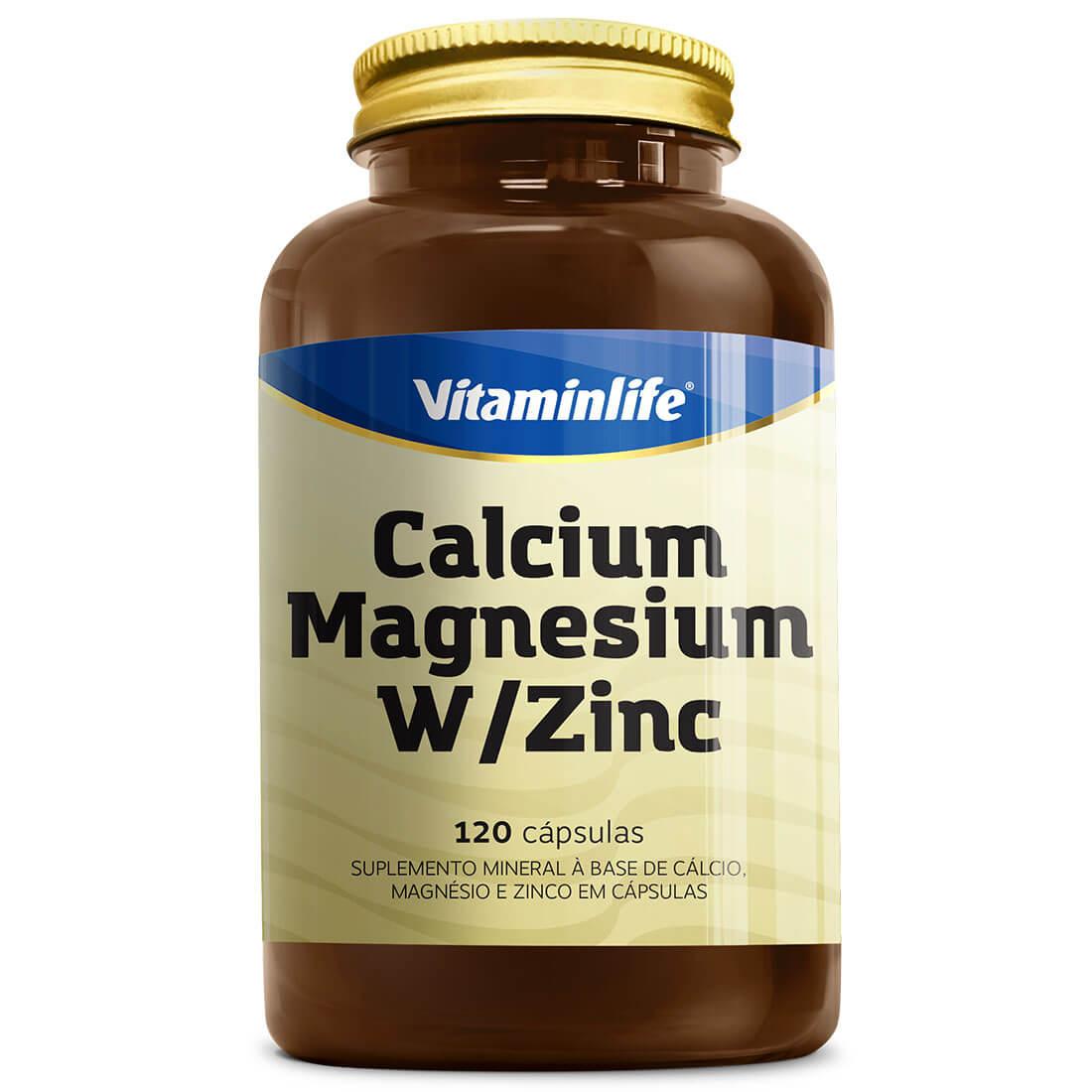 CALCIUM MAGNESIUM W/ ZINC 120 CAPS - VITAMIN LIFE