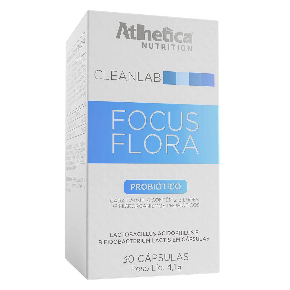CLEANLAB FOCUS FLORA PROBIOTICO 30 CAPSULAS - ATLHETICA NUTRITION