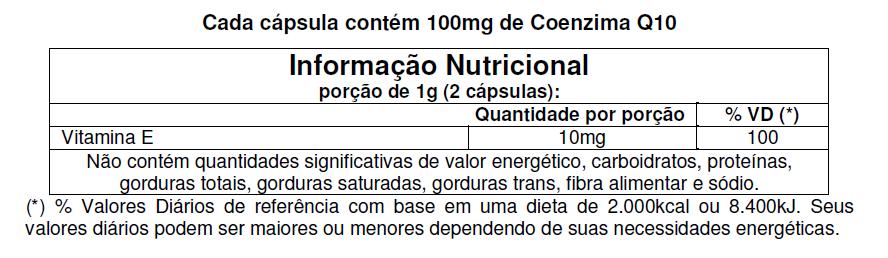 Coq-10 30 Cápsulas Coenzima Q10 Vitamina E - Vitafor