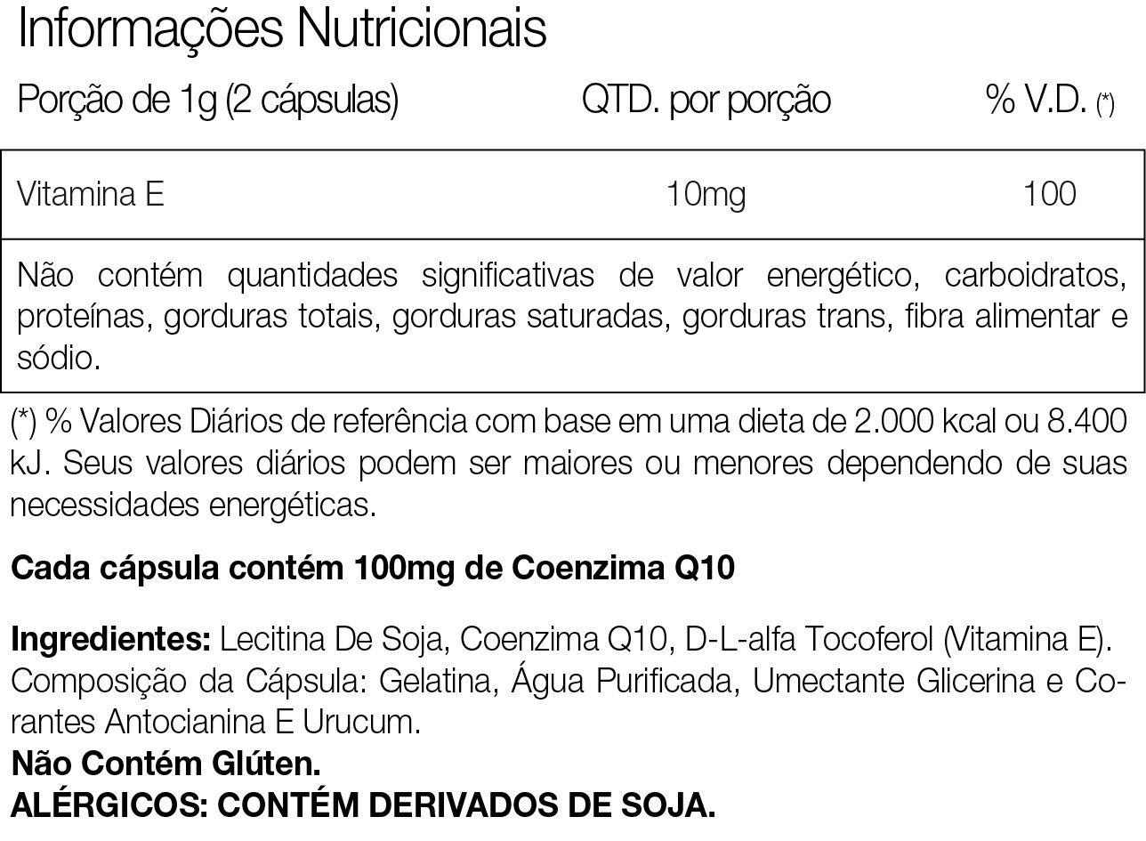 Coq-10 60 Cápsulas Vitamina E Coenzima Q10 - Vitafor