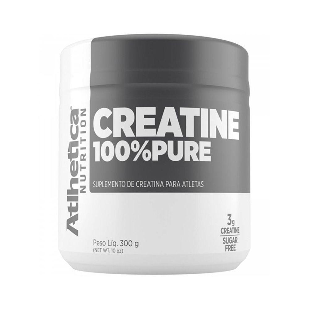 Creatine 100% Pure 300g Monohidratada Creatina - Atlhetica
