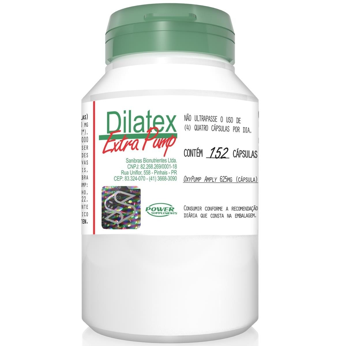 DILATEX 152 CAPS OXYPUMP AMBLY 625MG - POWER SUPPLEMENTS
