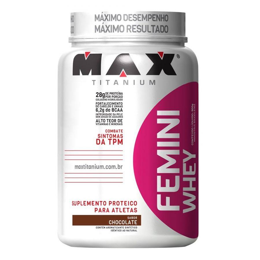 Femini Whey 900g Sabor Chocolate - Max Titanium