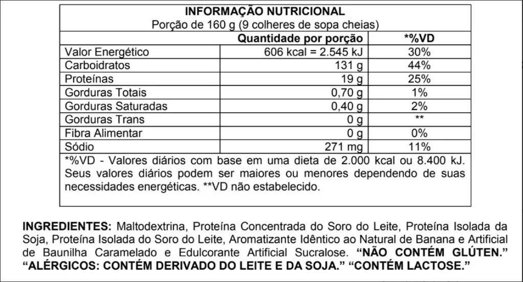 HIPER MASS 19000 SC - 3,2KG - ATLHETICA  - TOP Suplementos