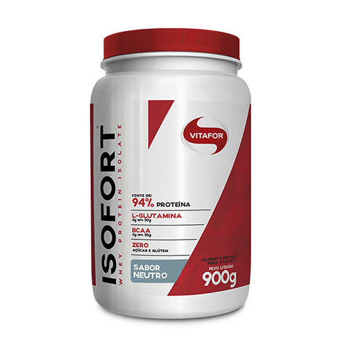 Whey Isofort 900g Isolado - Vitafor