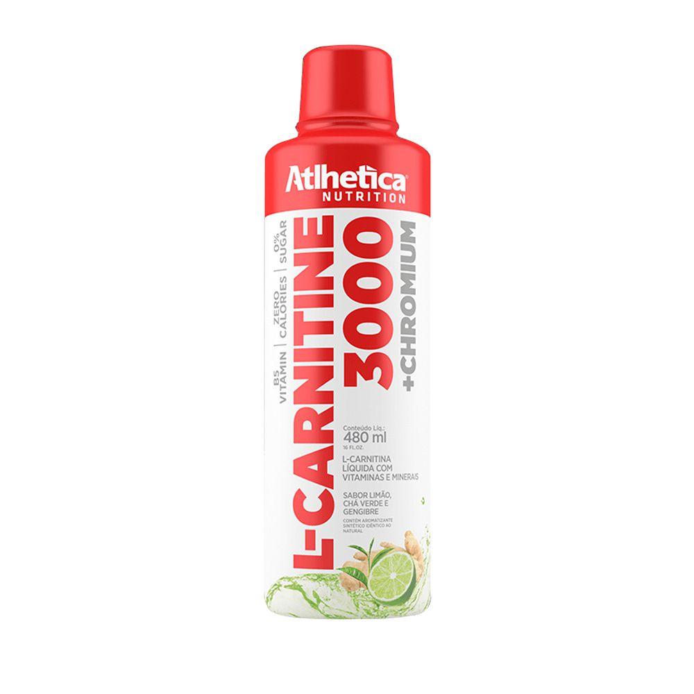 Kit 2un L-Carnitine 3000 480ml Limão, cha verde e gengibre - Atlhetica Nutrition