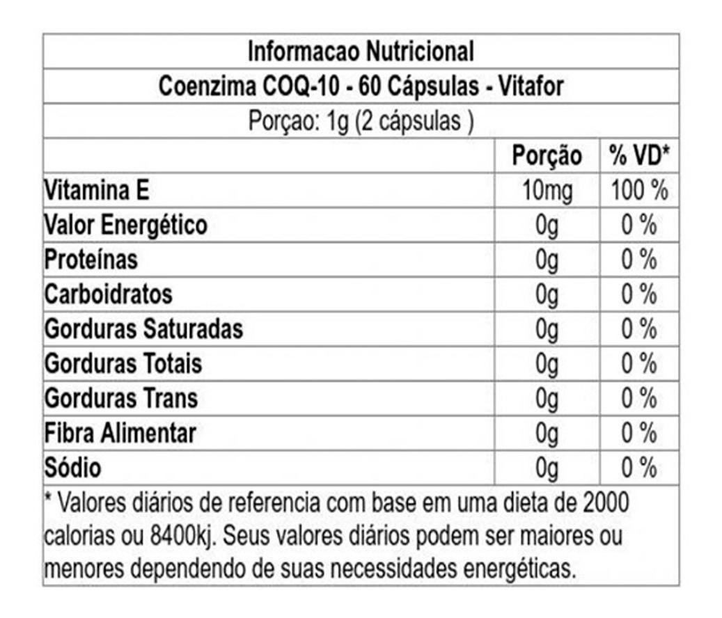 Kit 2x COQ-10 60 cápsulas - Vitamina E, Coezima Q10 - Vitafor