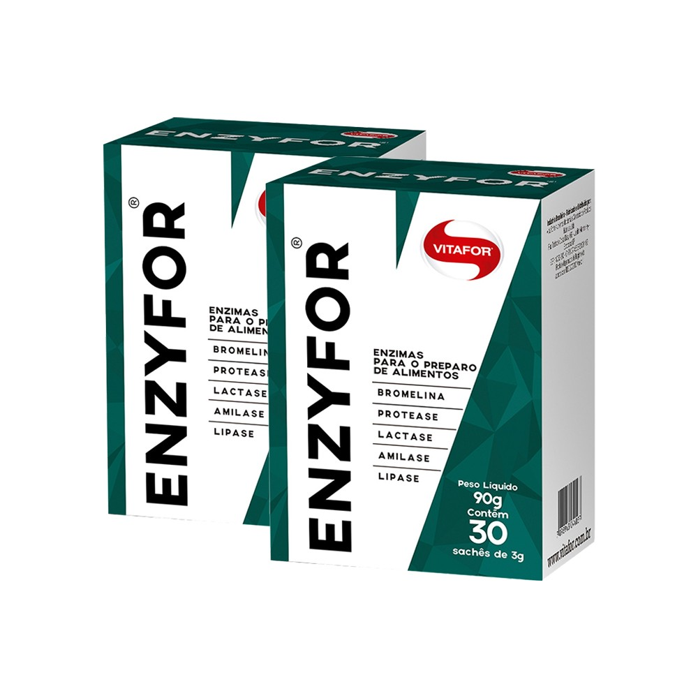 Kit 2x Enzyfor 30 Sachês (Enzimas digestivas) - Vitafor