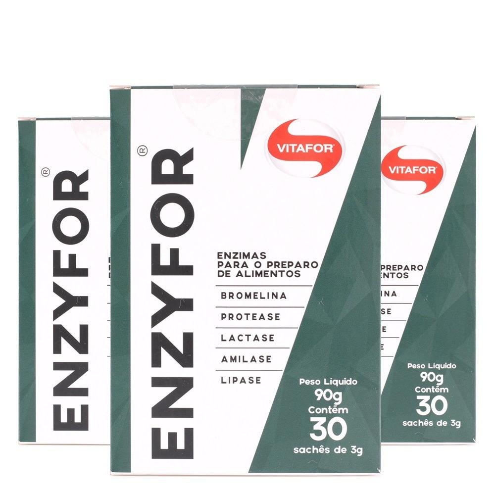 Kit 3x Enzyfor 30 Sachês (Enzimas digestivas) - Vitafor