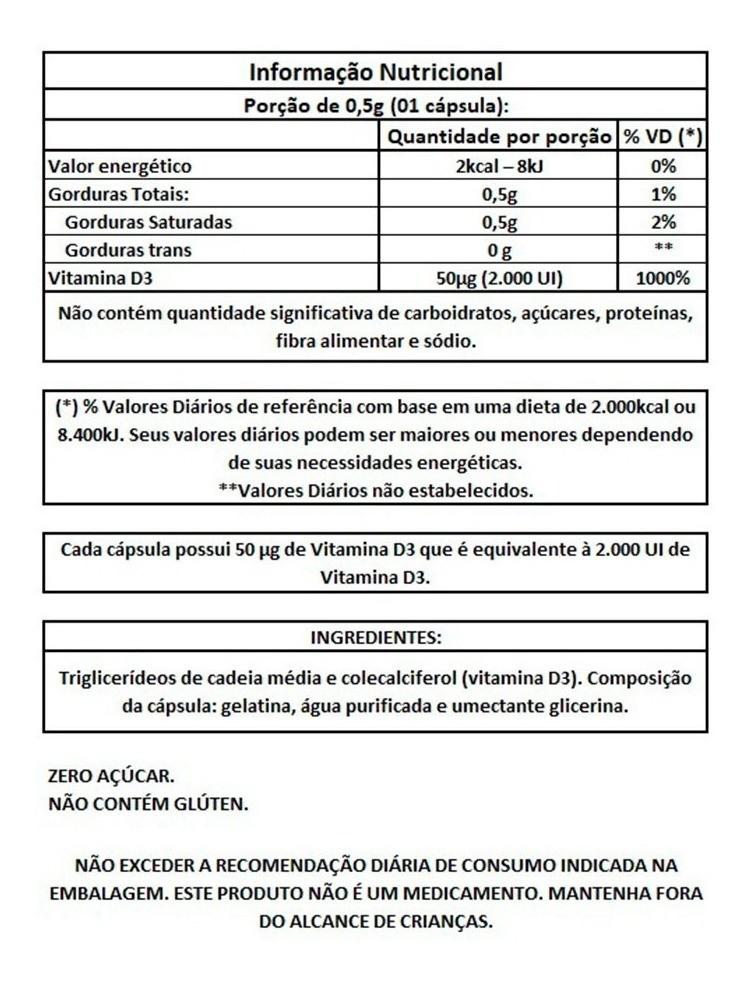 KIt 3x Vita D3 60 Cápsulas - Vitafor