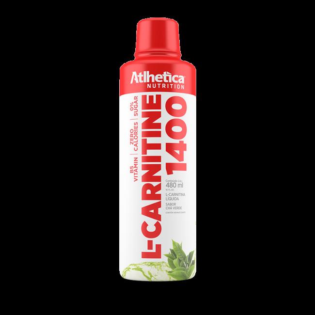 L-carnitine 1400 480ml Sabor Chá Verde - Atlhetica Evolution