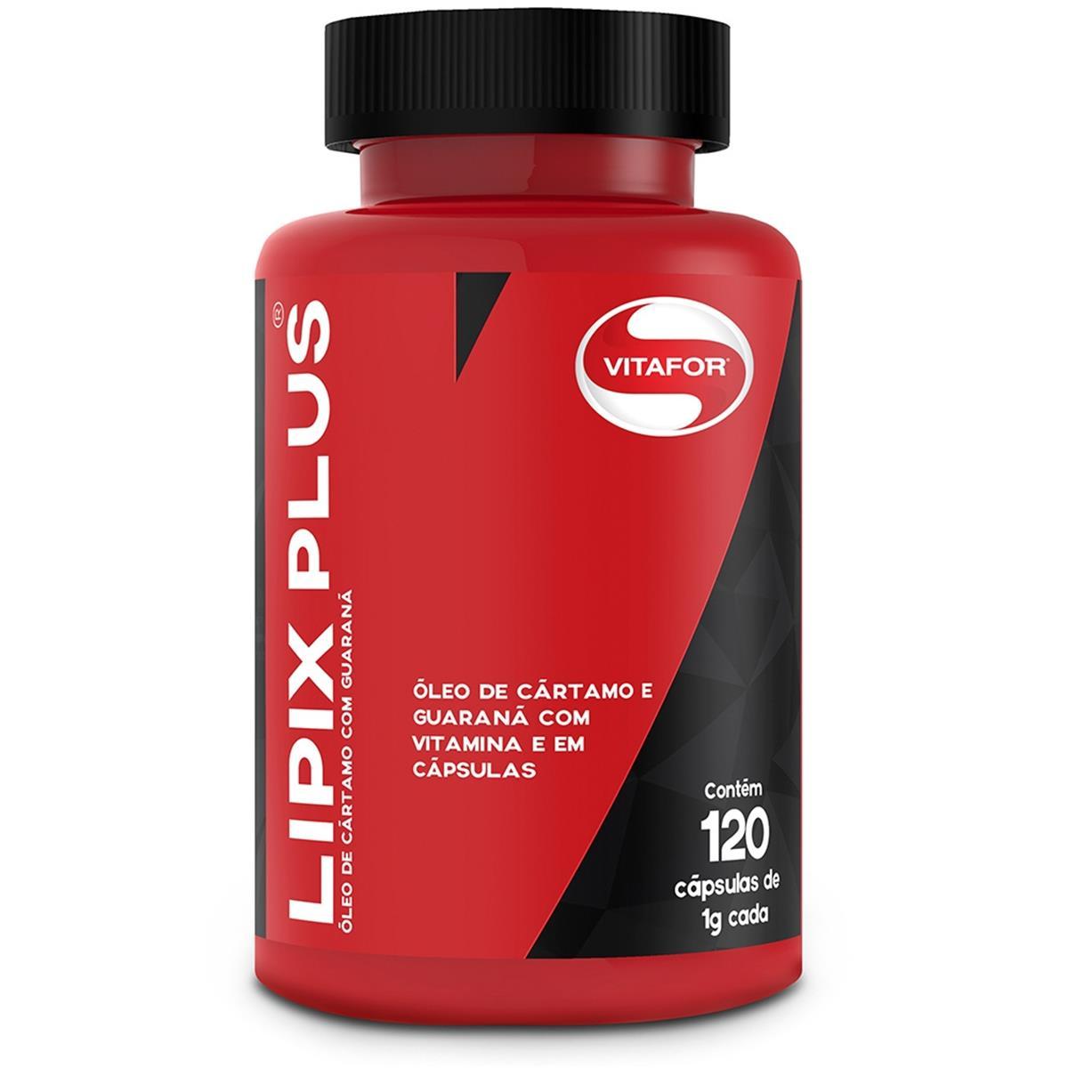 Lipix Ultra 120 Cápsulas Óleo De Cártamo Com Guaraná - Vitafor