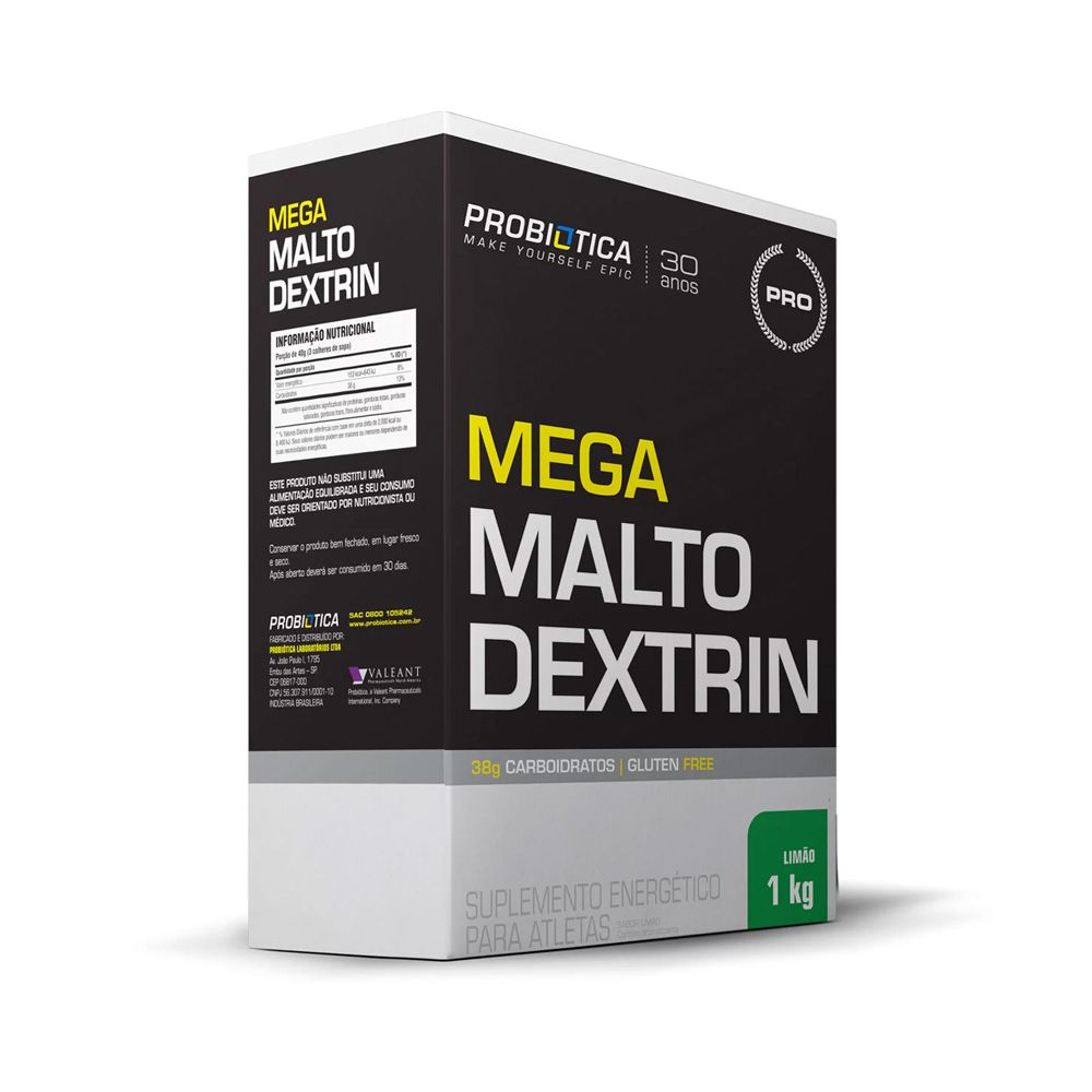 MEGA MALTODEXTRINA 1kg PROBIOTICA LIMAO