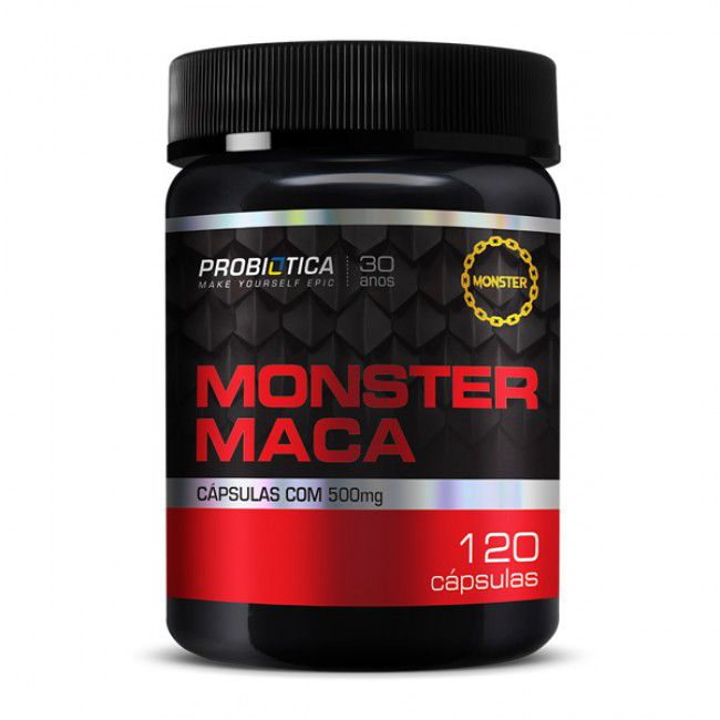 Monster Maca Peruana 120 Cápsuals Metabólitos - Probiótica  - TOP Suplementos