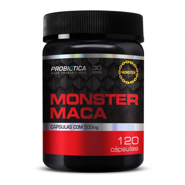 Monster Maca Peruana 120 Cápsuals Metabólitos - Probiótica
