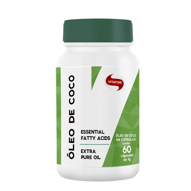Óleo De Coco 60 Cápsulas Ácidos Graxos Essenciais - Vitafor