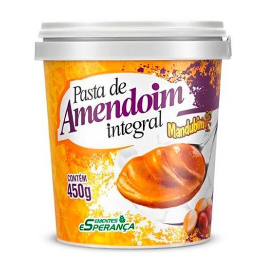Pasta De Amendoim Integral Mandubim Tradicional - 450g