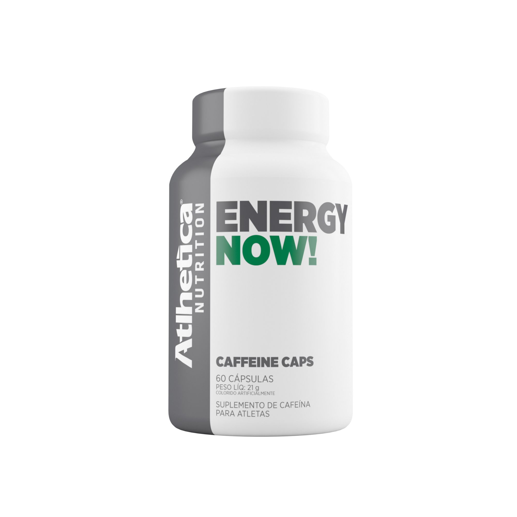 Energy Now 60 Cápsulas Cafeína - Atlhetica Endurance