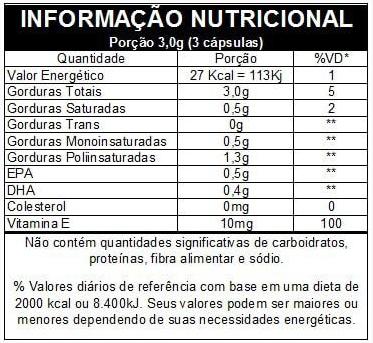 Omega 3 - Epa Dha 120 Cápsulas Vitamina E - Vitafor