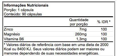 Zma 90 Cápsulas Magnésio Zinco Vitamina B6 - Atlhetica