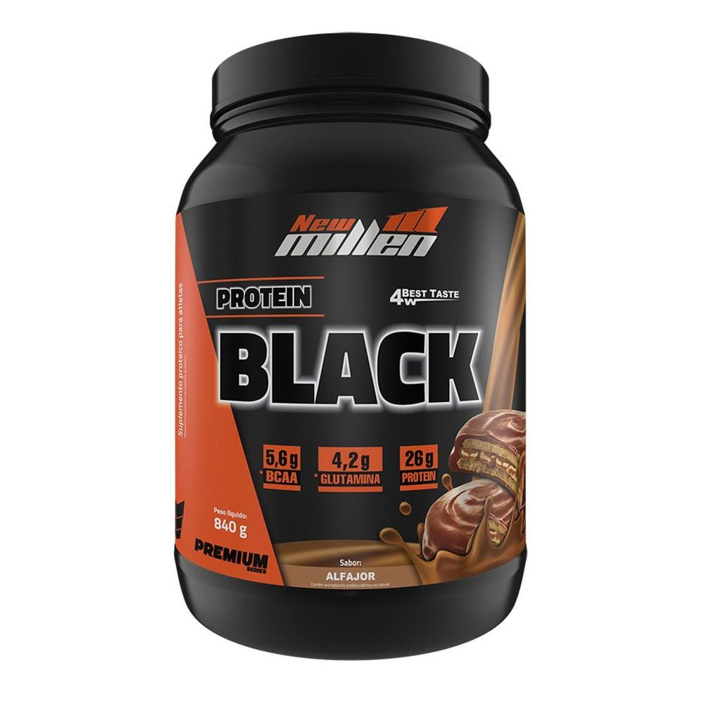 PROTEIN BLACK 840 GRS NEW MILLEN