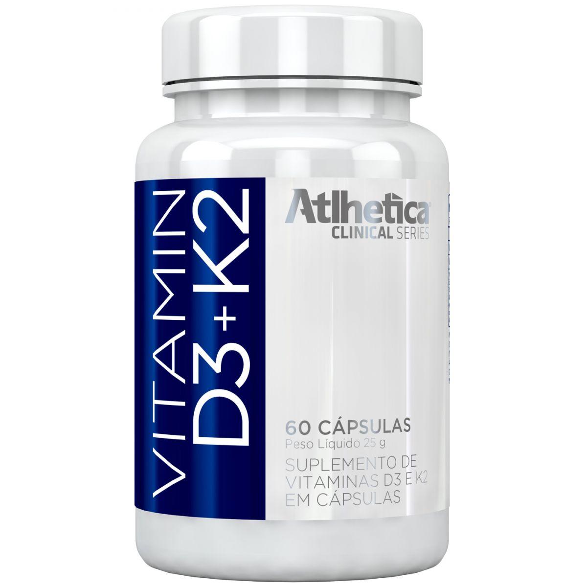 Vitamin D3+K2 60 Cápsulas Atlhetica Nutrition