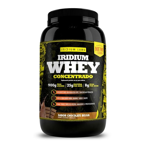 Pote Whey Concentrado Iridium 900g - Iridium Labs  - TOP Suplementos