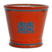 CACHEPOT DOUBLE HAPPINESS CORAL