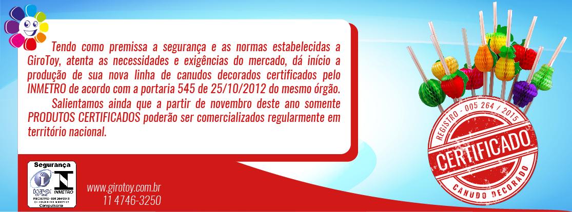canudos decorados certificados