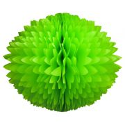 BOLA POM POM 130mm com HASTE Verde claro Pompom de papel seda colmeia GiroToy Enfeites fazemos cores personalizadas