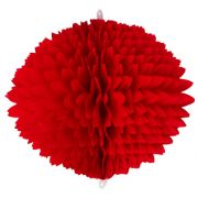 BOLA POM POM Vermelho Pompom de papel seda colmeia GiroToy Enfeites fazemos cores personalizadas