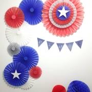 decoração super heróis capitão kit decorativo painel