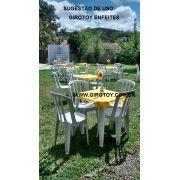 Girassol de Papel 15cm Verm. c/ Amarelo decorar centro de mesa