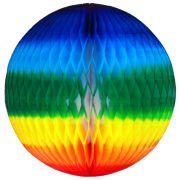 Balão GLOBO Bola de Papel de seda Cor Arco Iris GiroToy Enfeites