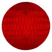 Balão GLOBO Bola de Papel de seda Cor Vermelho GiroToy Enfeites