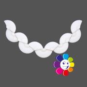 Guirlanda de papel seda Branca Batizado