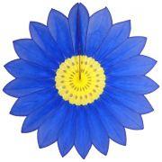 Enfeite de Papel de Seda Margarida Primavera - Fiorata - Azulão c/ Amarelo  GiroToy
