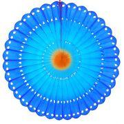 MARGARIDA RENDADA 630mm (63cm) Tons da Azul c/ Laranja  GiroToy