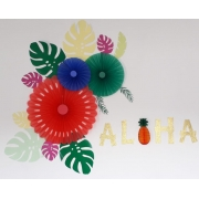 Painel festa Aloha só um bolinho tropical festa havaiana